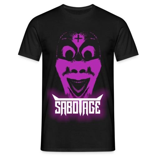 Enkel Masker Logo - Mannen T-shirt