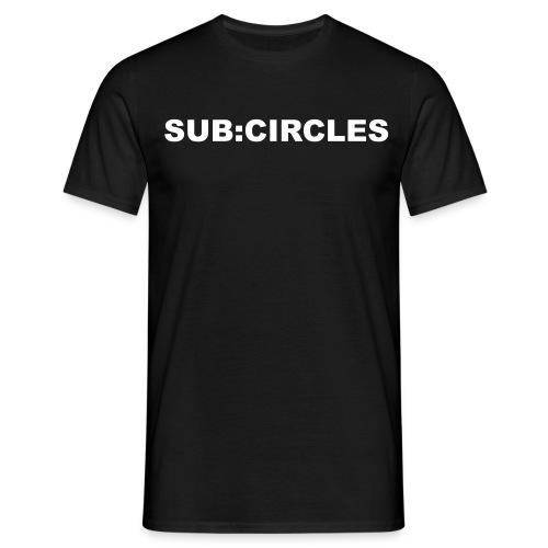 sub:circles Logo white - Männer T-Shirt