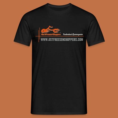 OFC Designlogo orangegrau 1 0 - Männer T-Shirt