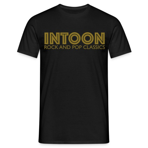 intoon-logo-with-claim - Männer T-Shirt