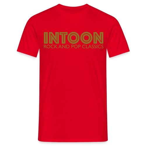 intoon-logo-with-claim - Männer T-Shirt