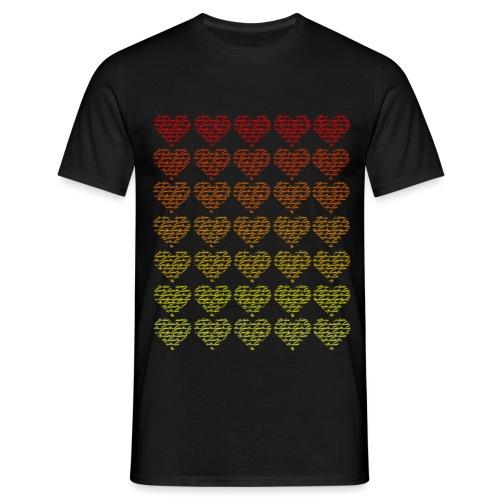 red2yellow hearts - Männer T-Shirt