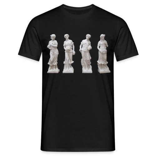 Girls Statues Marble - Men's T-Shirt