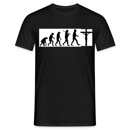 Evolution png - Männer T-Shirt