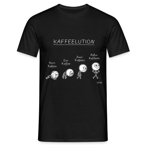 Kaffeelution - Männer T-Shirt