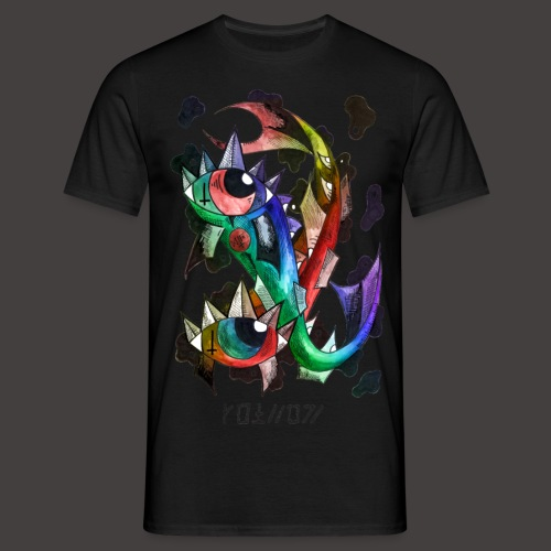 Poisson multi-color - T-shirt Homme