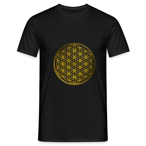 Flower of life GOLD - Mannen T-shirt
