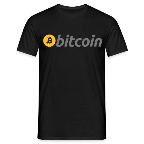 Bitcoin Logo mit Schrift - Männer T-Shirt