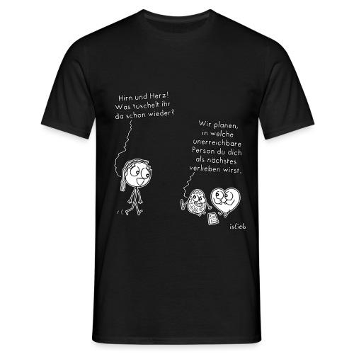 Hirn und Herz - Männer T-Shirt