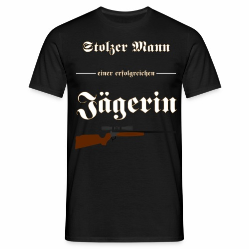 Stolzer Mann einer erfolgreichen Jaegerin - Männer T-Shirt