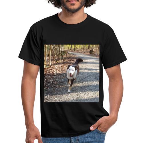 Männerkleidung mit Hund - Männer T-Shirt
