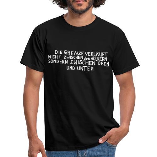 Graffiti: Oben und Unten - Männer T-Shirt