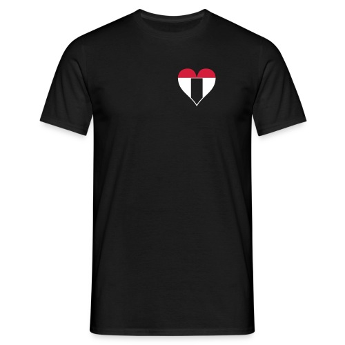 I love Baden bicolor - Männer T-Shirt