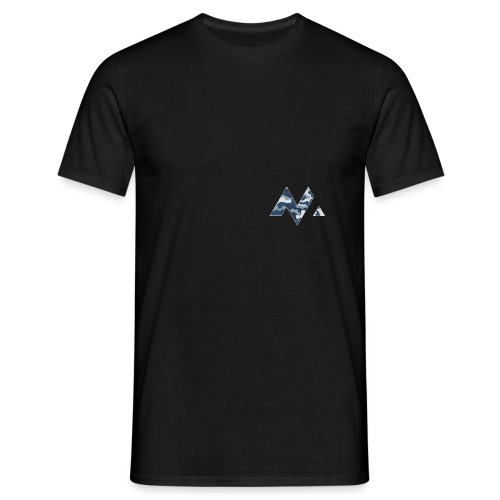 M Logga (vit outline) - T-shirt herr