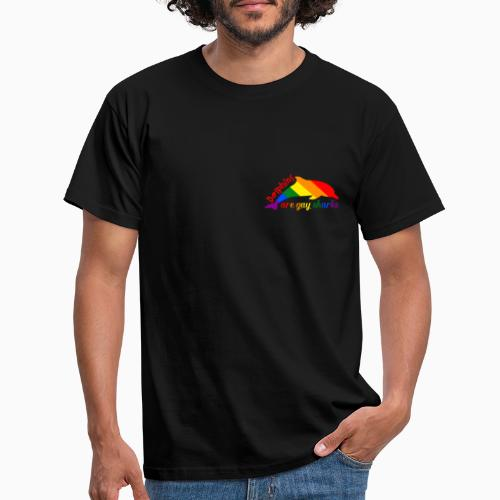 Dolphins are gay sharks! - Men's T-Shirt