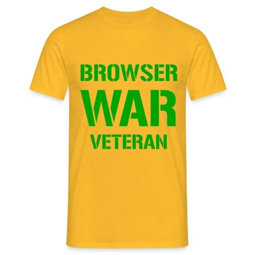 Browser War Veteran für gestandene Web-Entwickler - Men's T-Shirt