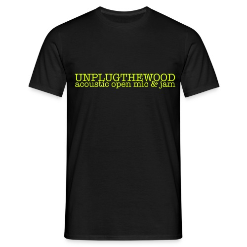 Unplug The Wood letterbox - Men's T-Shirt