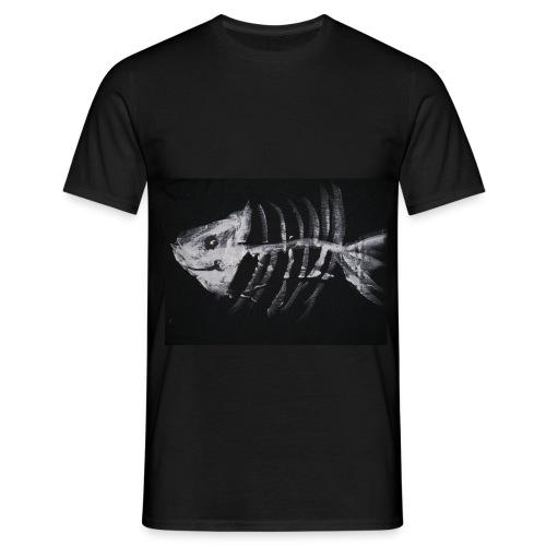 Fisch Skelett - Männer T-Shirt
