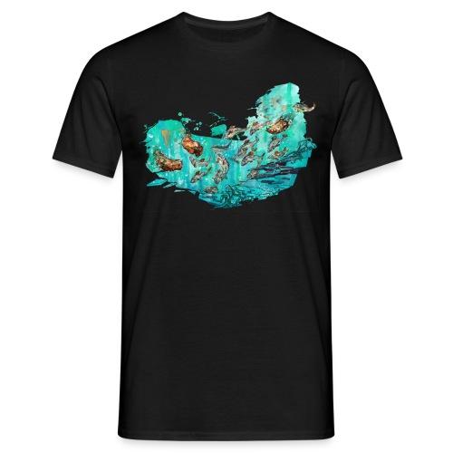 Fangtag // Bären fangen Fische (Morph-Art) - Männer T-Shirt