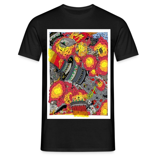 Alien Attacks T-Shirt Sam Backhouse - Men's T-Shirt