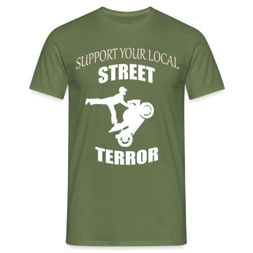 Streetterror Support - Miesten t-paita