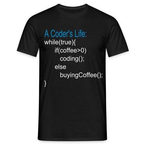 Programmierer Nerd Kaffee Programmieren Spruch - Männer T-Shirt