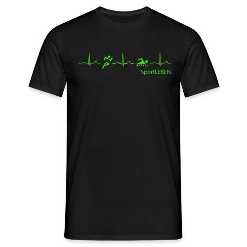 logo vorne mitte kopie - Männer T-Shirt