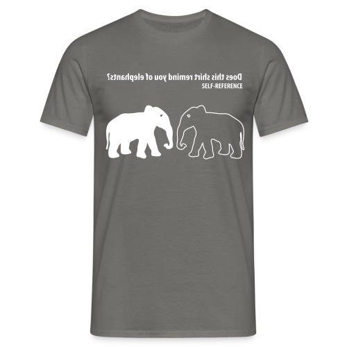 new selfreference - Mannen T-shirt