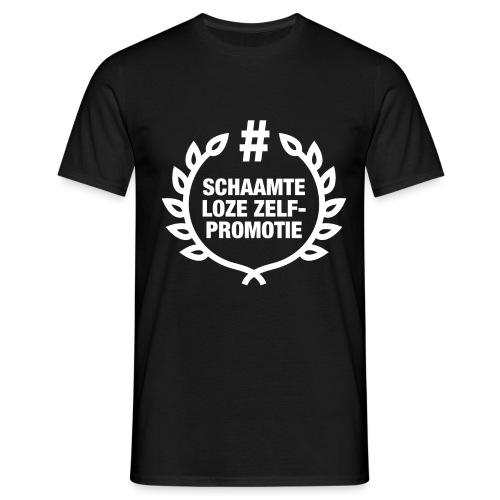 schaamteloze zelfpromotie - Mannen T-shirt