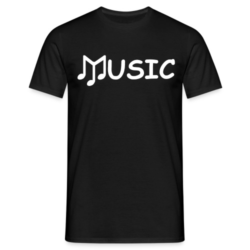 musictshirtdesignwhite - Men's T-Shirt