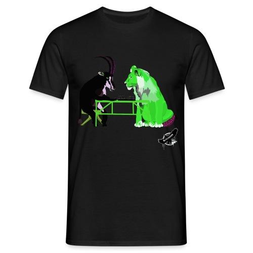 Playing Senet by BlackenedMoonArts, green w. logo - Herre-T-shirt