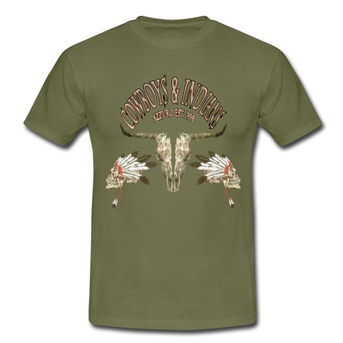 cowboysindians - Men's T-Shirt