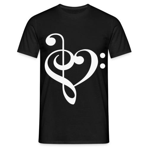 heartnotewhite - Men's T-Shirt