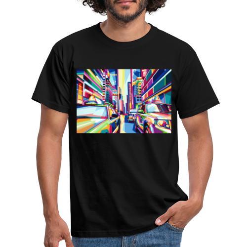 Taxi City - Männer T-Shirt