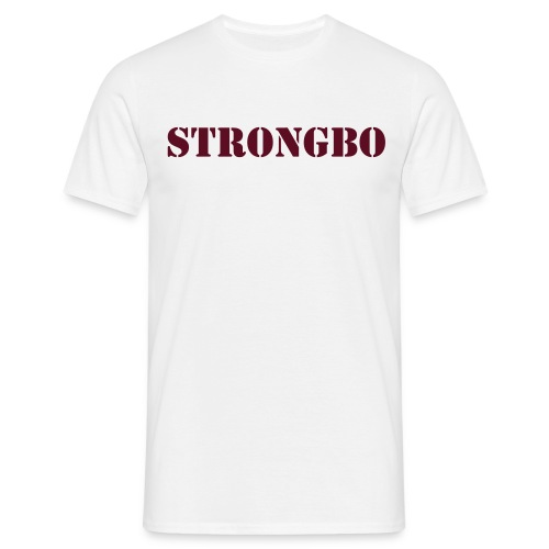 strongbo white red - Men's T-Shirt