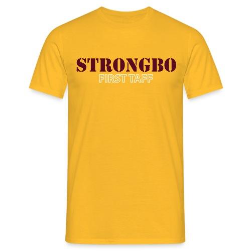 strongbo white red - Men's T-Shirt