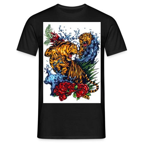 Tigers Fight res - Maglietta da uomo
