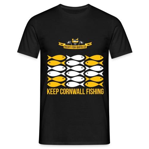 DFQC KCF Flag - Black - Men's T-Shirt