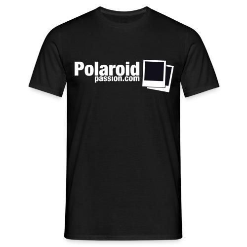 Polaroid Passion com NB Fond noir - T-shirt Homme