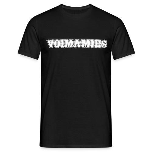 voimamieswhite - Miesten t-paita