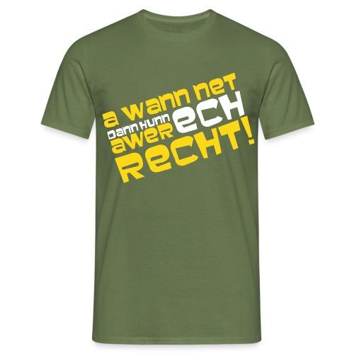 awer recht - Männer T-Shirt