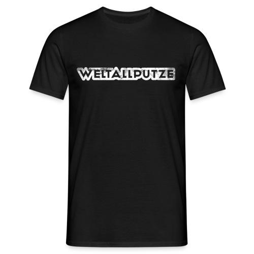 weltallputze grunge 01 weiss - Männer T-Shirt