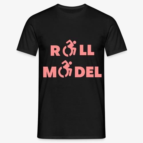 Elke rolstoel gebruiker is een roll model - Mannen T-shirt