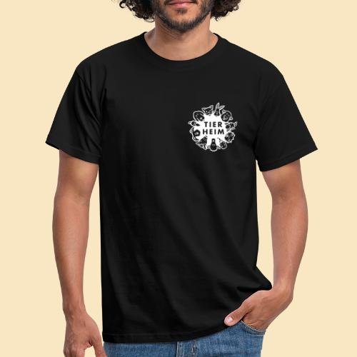 Tierheim Logo weiss - Männer T-Shirt