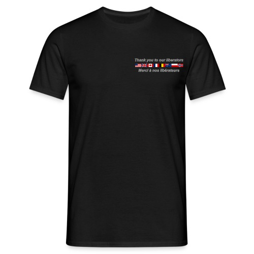thank you to our liberators png - T-shirt Homme