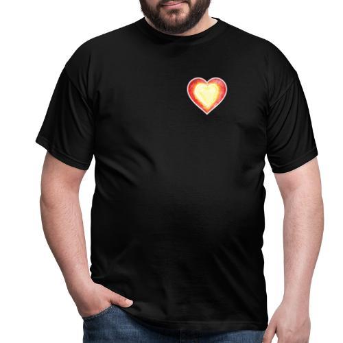 Burning Fire heart - Men's T-Shirt