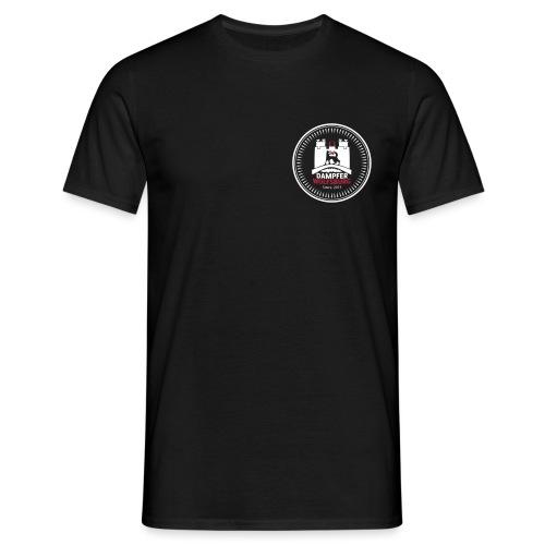 rz_logo_badge_auf_schwarz - Männer T-Shirt