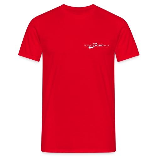 Planet Cycling Web Logo - Men's T-Shirt