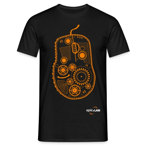 OrangeMouseWithLogo png - Men's T-Shirt