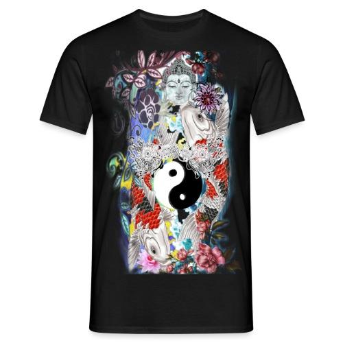 Koi Ying Yang Kollection (Mann) - Männer T-Shirt